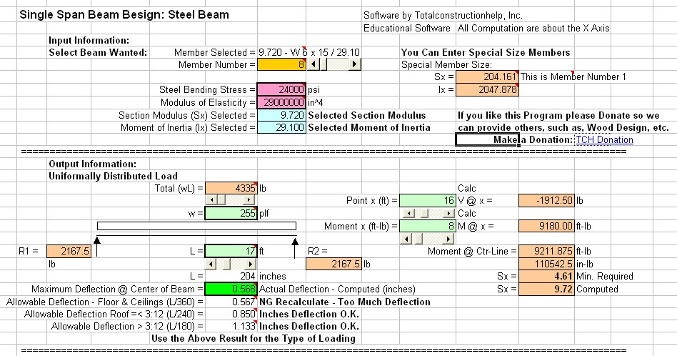 Free Steel Beam 01 Totalconstructionhelp